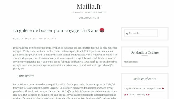 Article screen blog Mailla