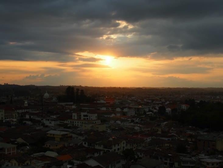 Coucher de soleil sur Popayán