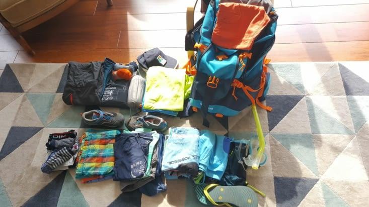 La préparation des sacs