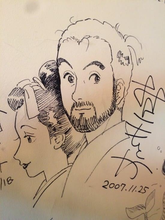 Café Manga : On dessiné sur les murs!!!