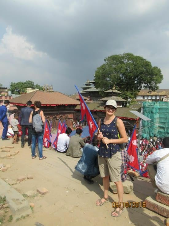 on nous a même filé un drapeau népalais pour la pose