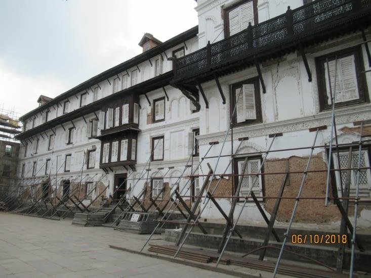 Palace Hanuman Dhoka, en restauration