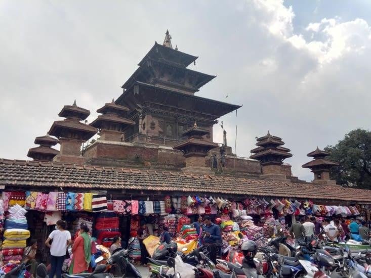 Taleju Temple à l'entrée de Durbar Square