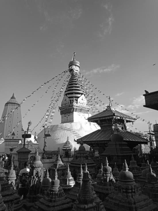 le fameux Stupa Swayambunath