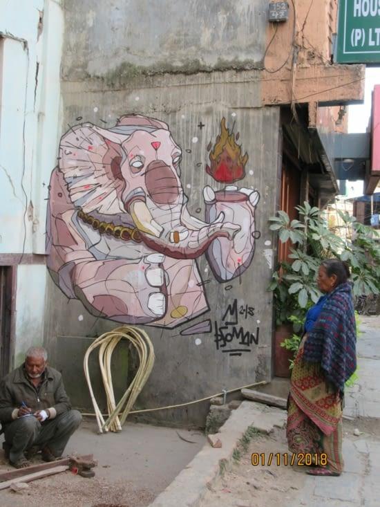 Street art à Katmandou