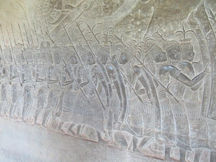 Armée des mercenaires siamois, alliés aux Khmers pour repousser les Cham