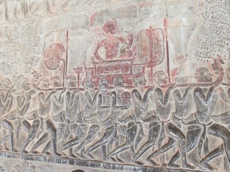 Fresque de l'armée de Suryavarman II