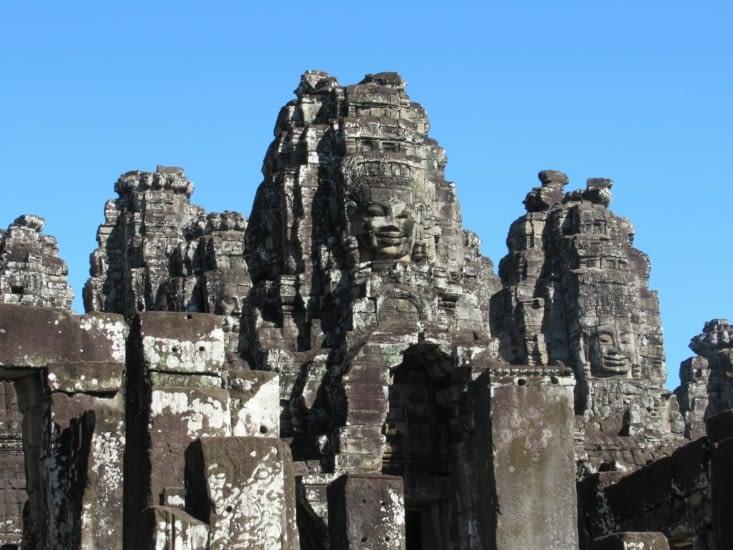 Le Bayon, magnifique site, temple central de l'ancienne ville d'Angkor Thom
