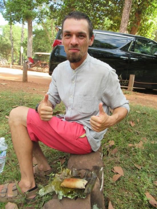 Petite pause gustative avant de visiter le reste d'Angkor Thom