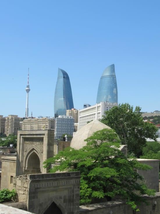 Bakou - le mélange des époques