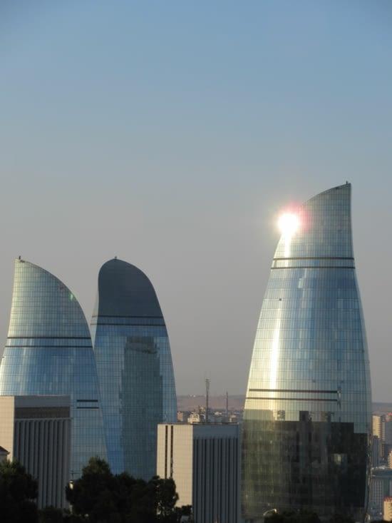 "Bakou - les ""Flame Towers"""