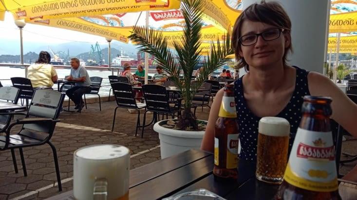Batumi - il fait chaud en arrivant à Batumi