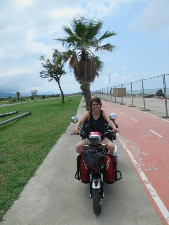 Visite du bord de mer en tricycle électrique