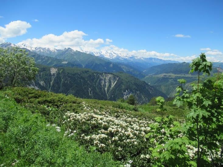 Encore une vue magnifique sur les montagnes, ce sera comme ça tout le long du trek
