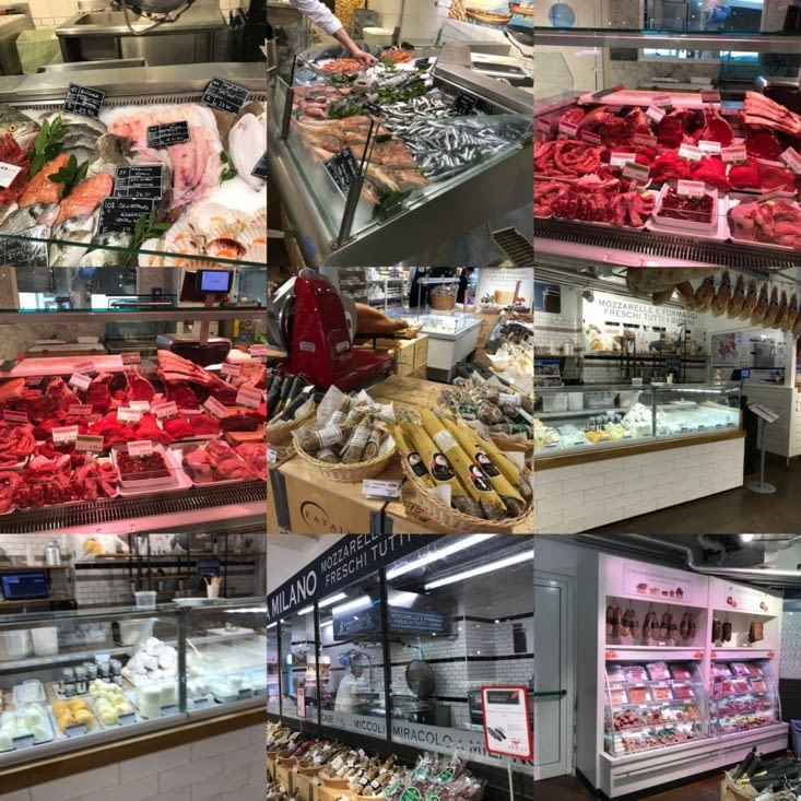 Poissons, viande et fromages