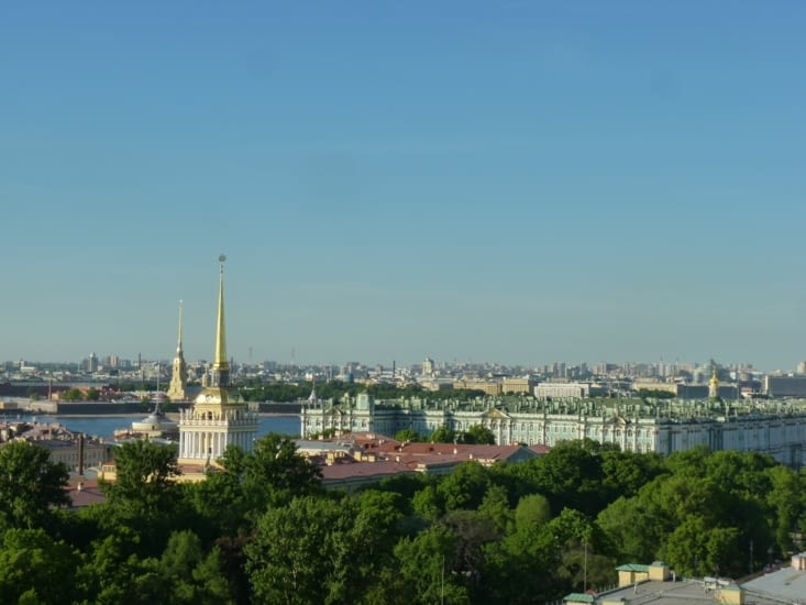 St. Pétersbourg vu d'en haut...