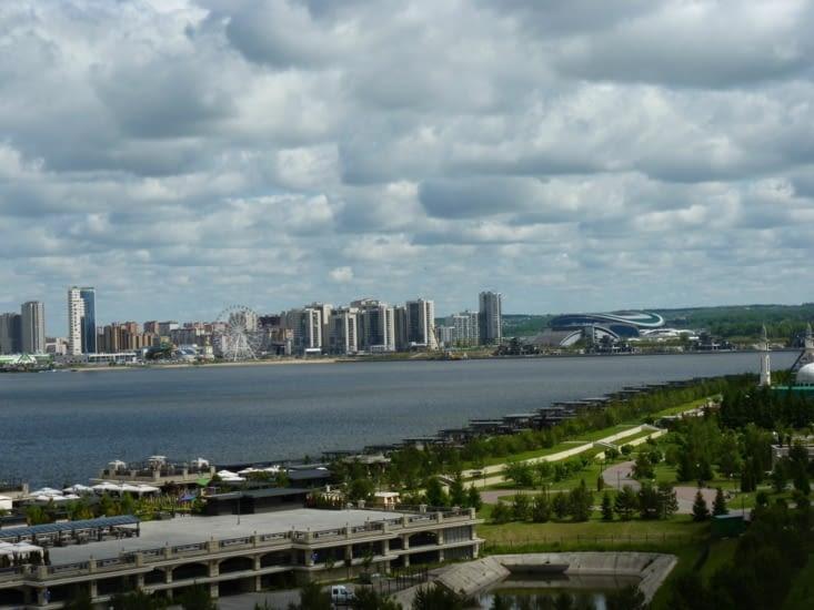 L'autre rive de Kazan avec le stade où nos petits français joueront... :)