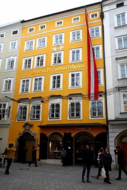 Que serait une visite de Salzburg sans un détour par la maison natale de Mozart ?