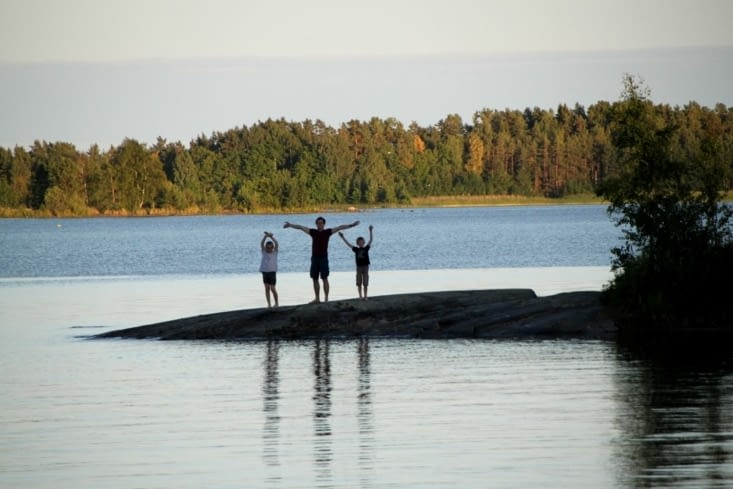 Lost in lake Vänern, the largest lake of Europe.