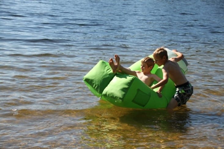 How to use a seat as a boat...
