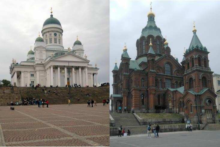 A Helsinki, on peut choisir sa cathédrale préférée.