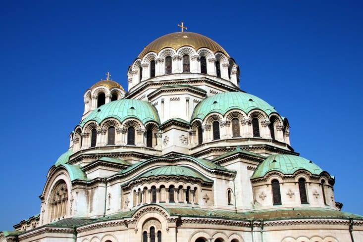 La photo que tout le monde prend à Sofia : la cathérale orthodoxe Alexander Nevski.