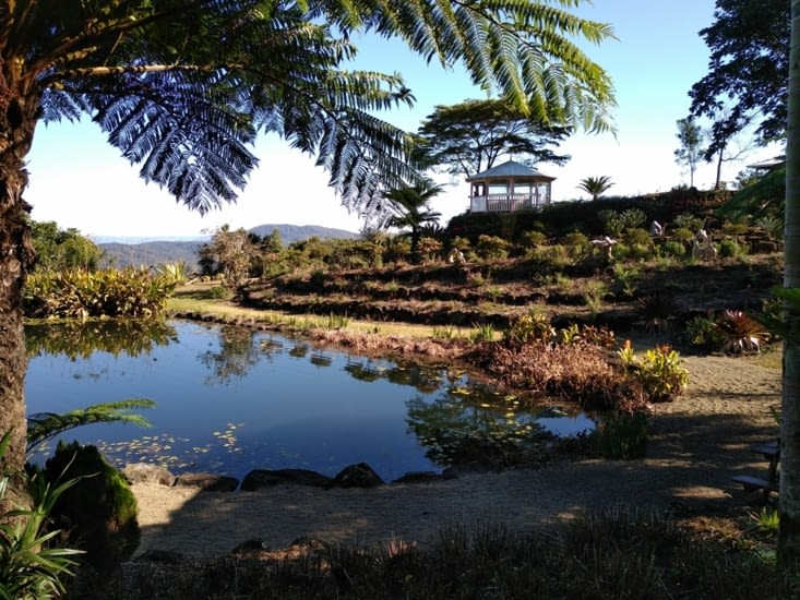 Les jardins, partie étang