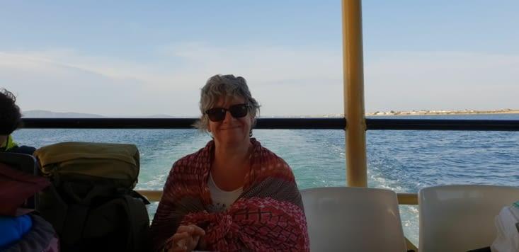 Sur le bateau entre Ilha da CULATRA et OLHAO : fisquet il est 19h30 !