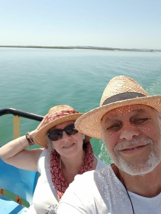 Sur le bateau entre OLHAO et Ilha da CULATRA
