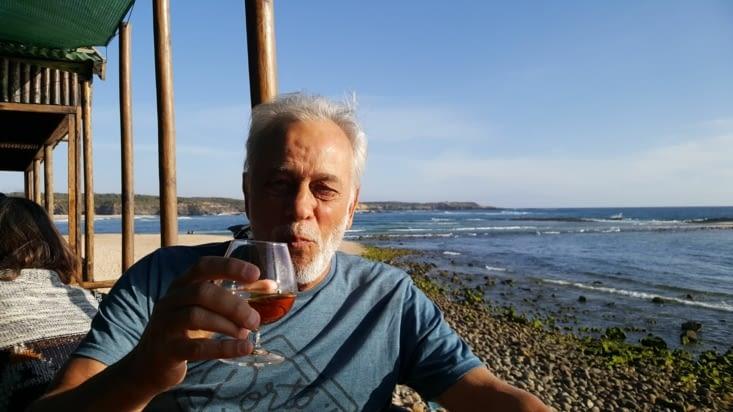 Dîner à VILA NOVA DE MILFONTES,plus beau souvenir, restaurant CHOUPANA  sur la plage.