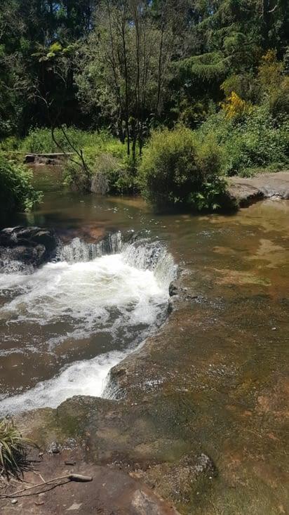 Petit bain dans une eau naturellement chaude