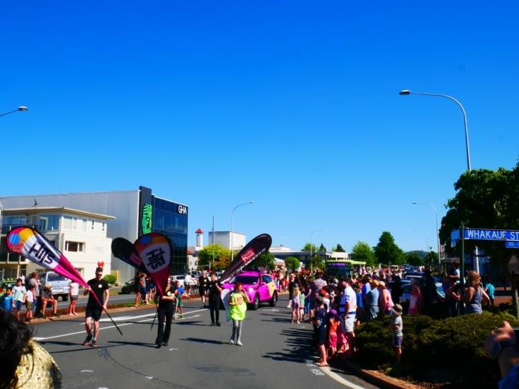 Petite parade dans la ville