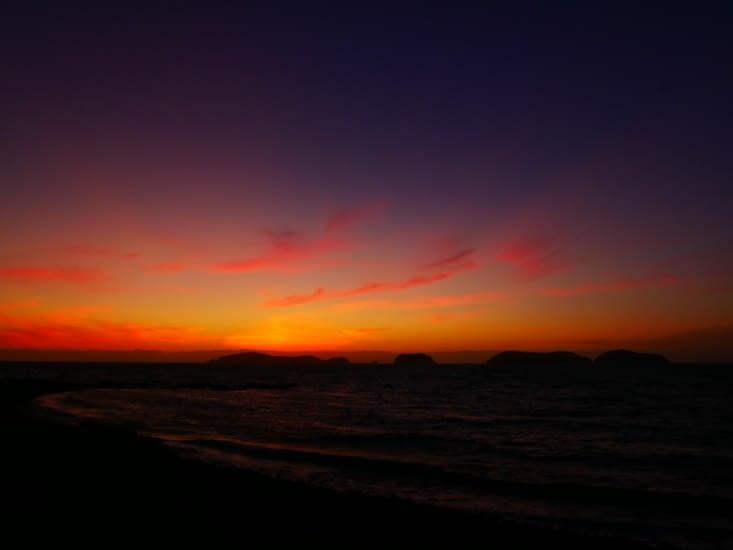 Spectacle pour un de nos derniers sunset du voyage