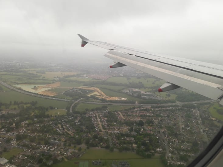 Atterrissage a Londres