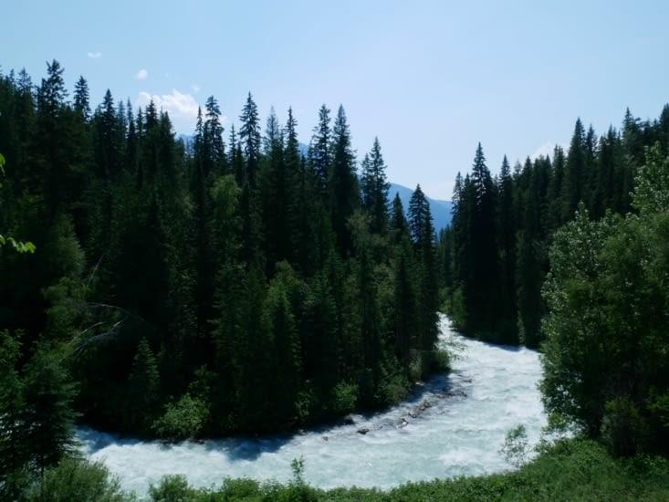 Robson river et son eau laiteuse