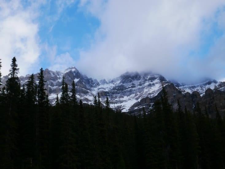 Dernière vue des montagnes avant de partir