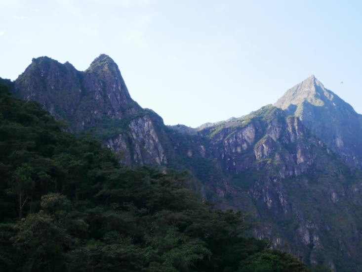 Un bout du Machu Picchu vu d'en bas