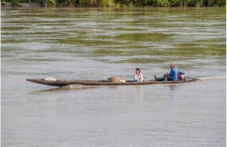 Voilà à quoi je ressemblais sur le fleuve !
