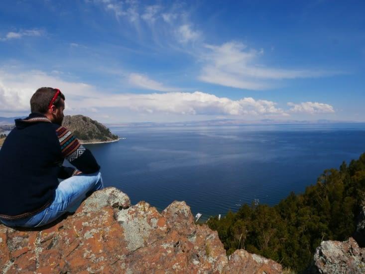 Mirador improvisé sur le Titicaca