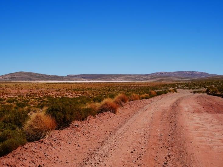 Piste au milieu du désert