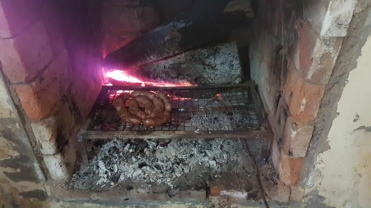 Chorizos con pan