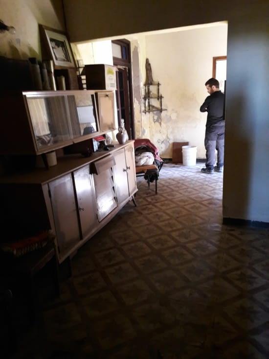 Couloir menant à la chambre du fond