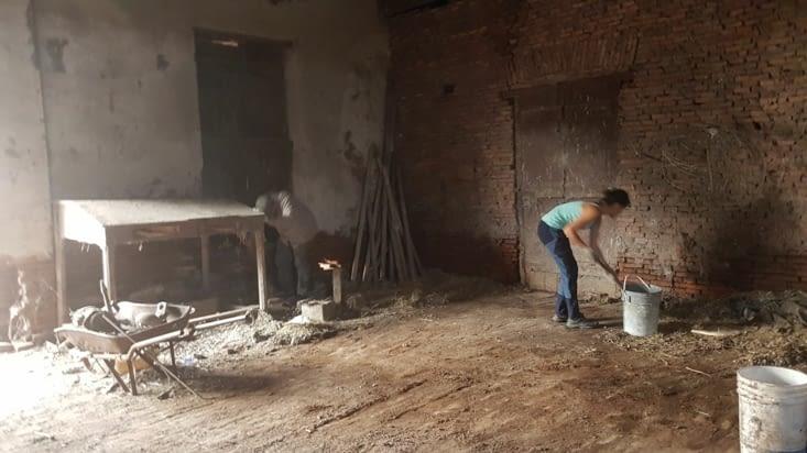 Nettoyage de grange