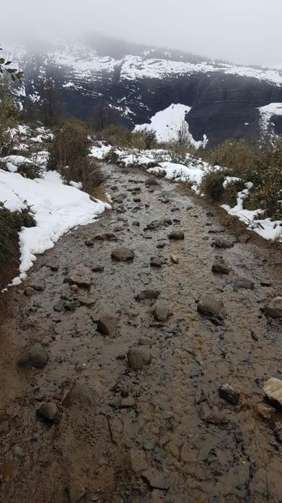 Aujourd'hui nous remontons les cours d'eau avec du coup un peu de boue