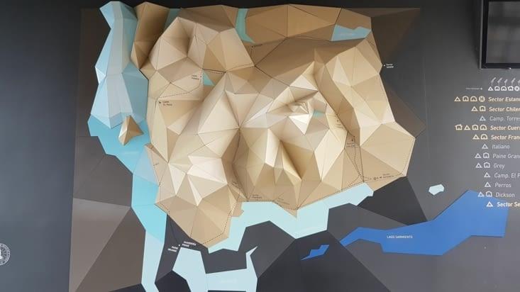 Représentation artistique des reliefs du parc