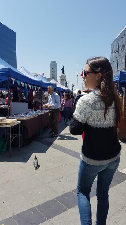 Petit marché avant le tour