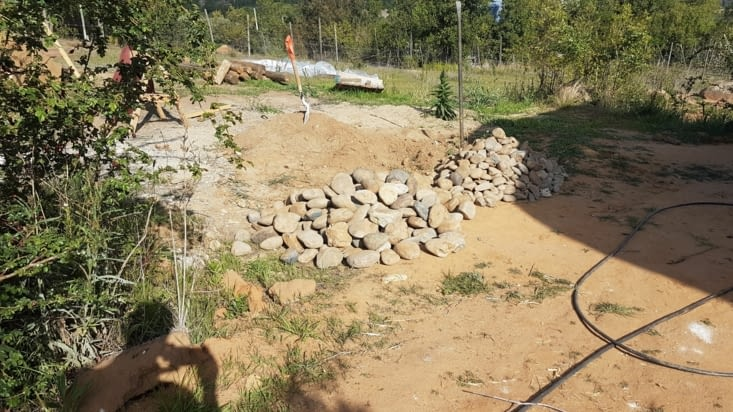 Triage des pierres pour l'après midi