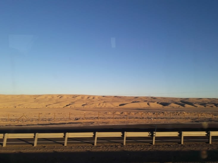 Coucher de soleil sur les premières dunes