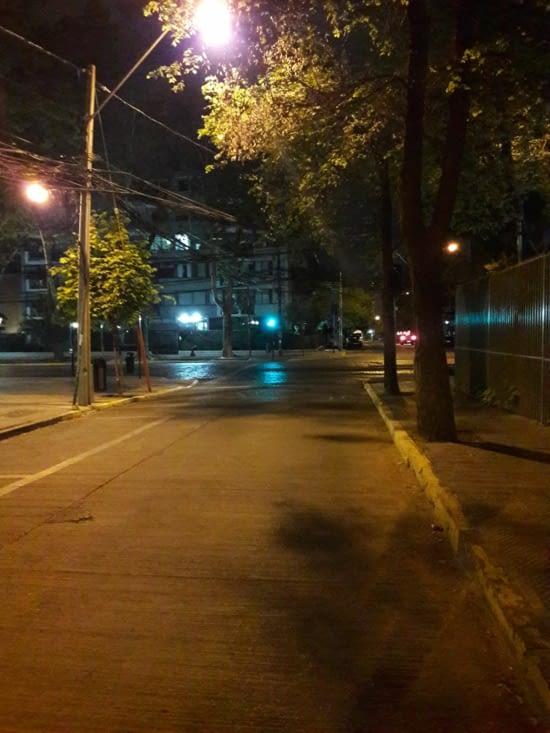 Rues désertes de Santiago