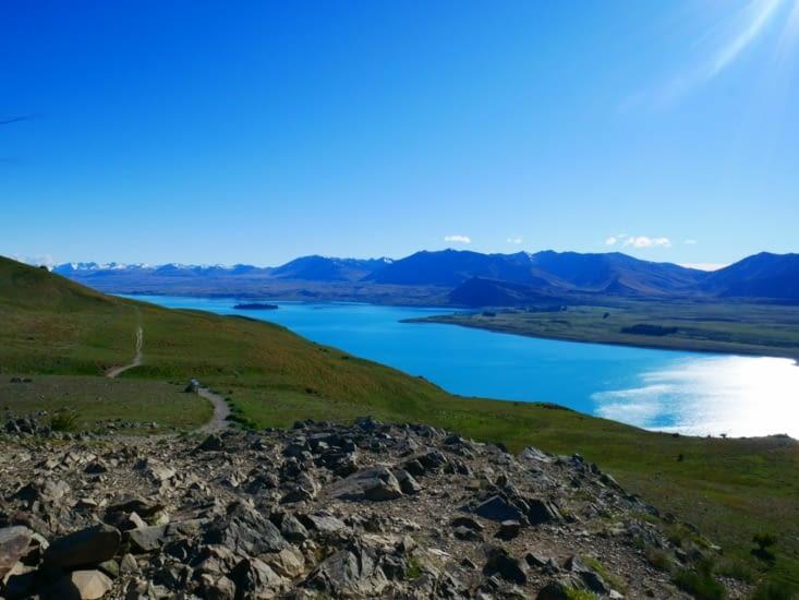 Vue sur Tekapo lake